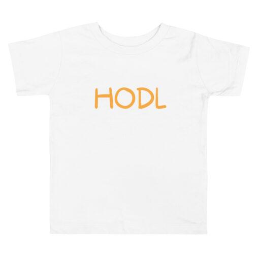 hodl toddler Bitcoin t-shirt